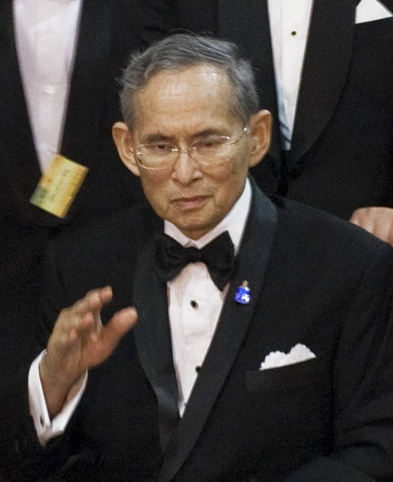By Bhumibol_Adulyadej_2010-9-29.jpg: Government of Thailand derivative work: 2T (Bhumibol_Adulyadej_2010-9-29.jpg) [CC BY 2.0 (http://creativecommons.org/licenses/by/2.0)], via Wikimedia Commons